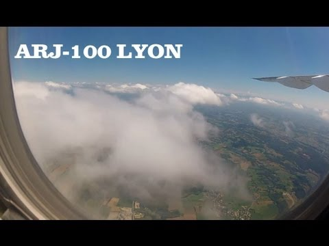 ARJ-100 Lyon Wingview Landing HD