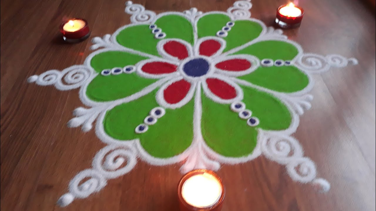 Simple Easy And Quick Freehand Rangoli Designs With