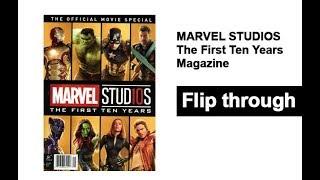 Marvel Studios The First Ten Years Magazine Book Flip Through