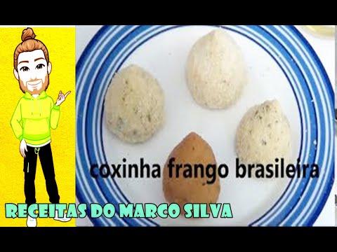 Receita Completa Coxinha Frango  Brasileira Muito  Facil  ( Canal Chantilly Com Chocolate )
