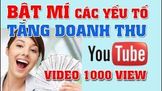 1000 View Trên Youtube Được Bao Nhiêu Tiền | Bật mí các yếu tố tăng doanh thu Youtube