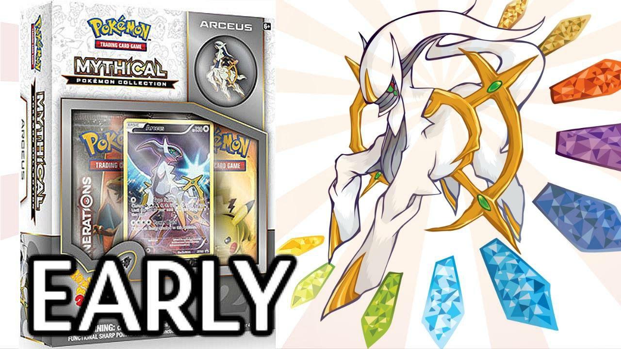 Pok/èmon Arceus Mythical Cards Collection Box