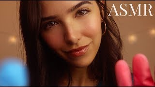 ASMR Tapping on YOU! (Nails, Sponges, Gloves, Tools, Closeup Whispering)