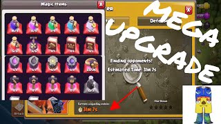 COC UPDATE MASS UPGRADES AND NEW LEGENDS LEAGUE ATTACKS
