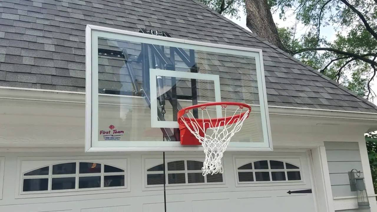 Adjustable Basketball Hoop >> Roof Master roof mounted basketball hoop 1 - YouTube