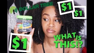TRYING $1 DOLLAR TREE GEL ON MY NATURAL HAIR | THESE INGREDIENTS ARE TERRIBLE!
