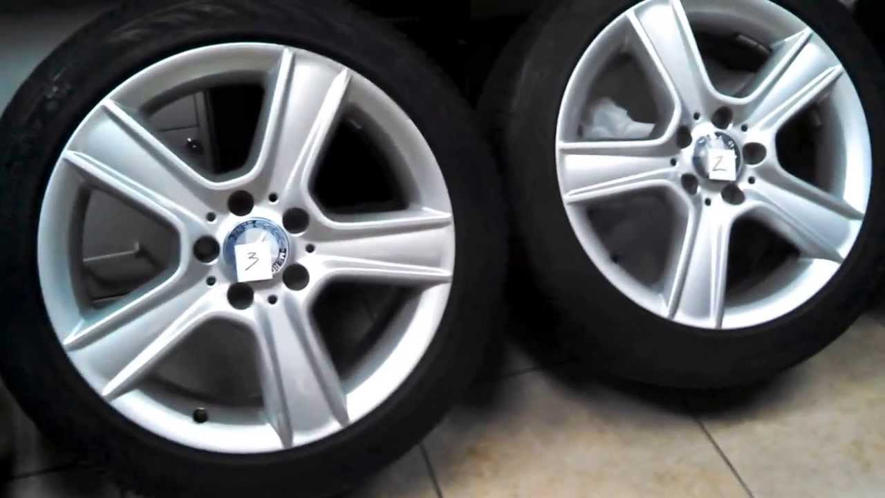2011 mercedes c300 17 wheels tires set for sale youtube