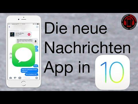 iOS 10 iMessage Features - Nachrichten App Tutorial [Deutsch/German]