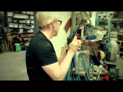 Breaking Bad's assassin is unimpressed by the MythBusters' gun skills
