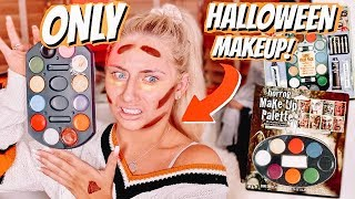 i applied a FULL FACE using ONLY HALLOWEEN MAKEUP!!