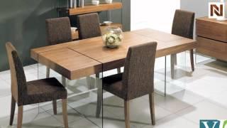 Contemporary Walnut Floating Dining Table  Vgceparkermk032 From Vig Furniture