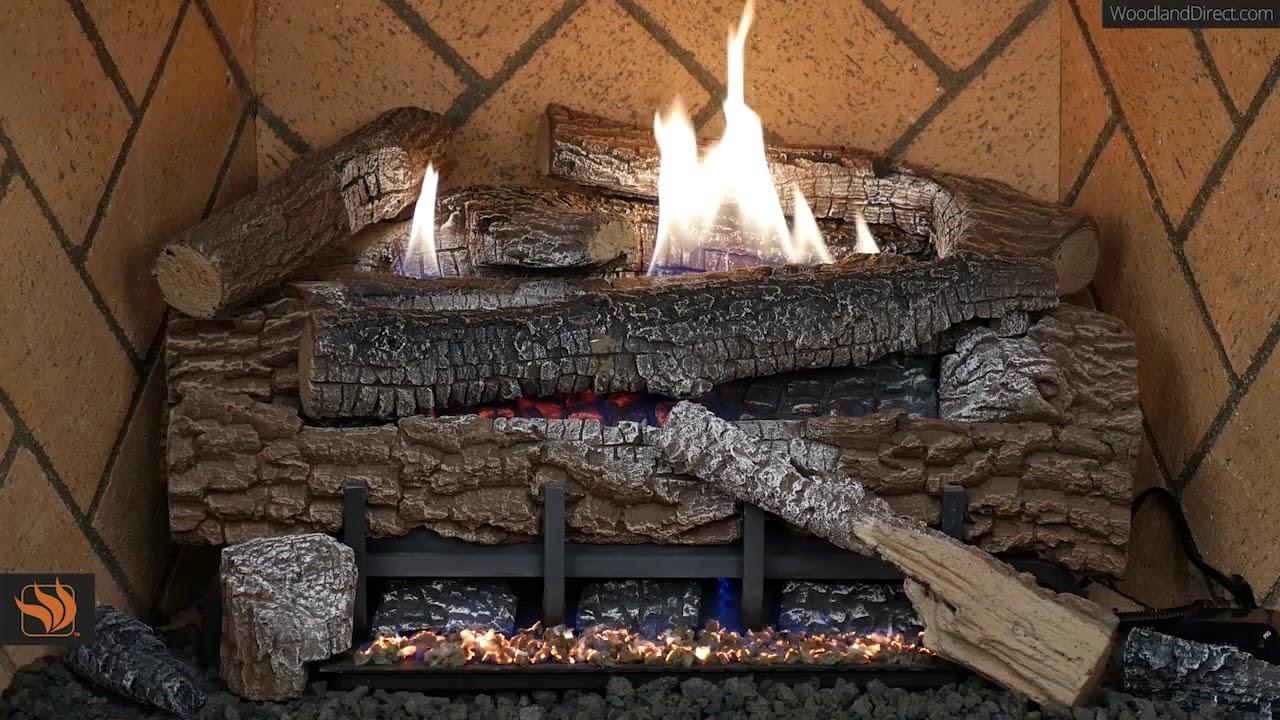 Boulder Mountain Ventless Gas Log Set