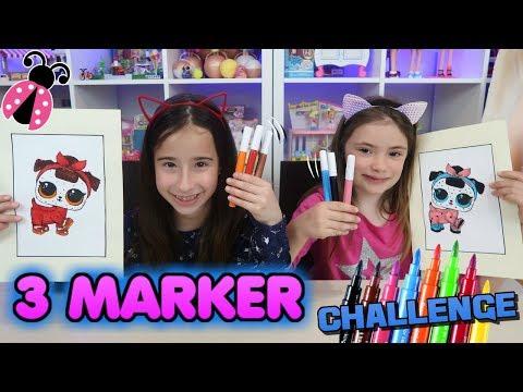 🎨 3 MARKER Challenge! + ¡SORTEO! Los juguetes de Arantxa con Juega Ainhoa