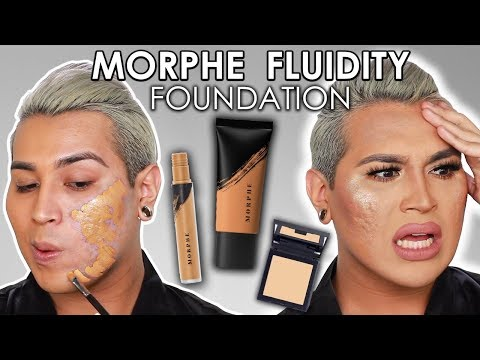 Morphe FLUIDITY Foundation on Textured Acne Skin... SHOOK!