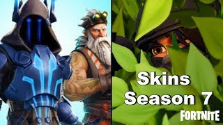 ALLE SEASON 7 BATTLEPASS SKINS GELEAKT!! 😱 | Fortnite News