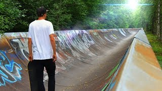 BEST SKATE SPOT ON EARTH - The Abandoned Endless Half-pipe