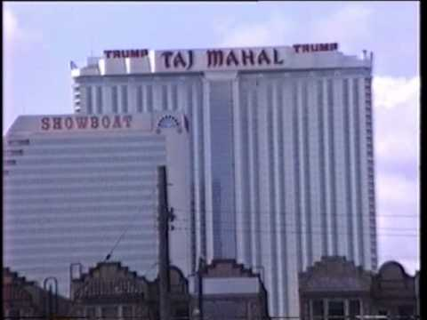 Atlantic City by car 1991 - Trump Taj Mahal Casino Trump City? Rotten!