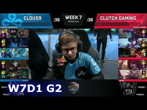 Cloud 9 vs Clutch Gaming | Week 7 Day 1 S8 NA LCS Summer 2018 | C9 vs CG W7D1