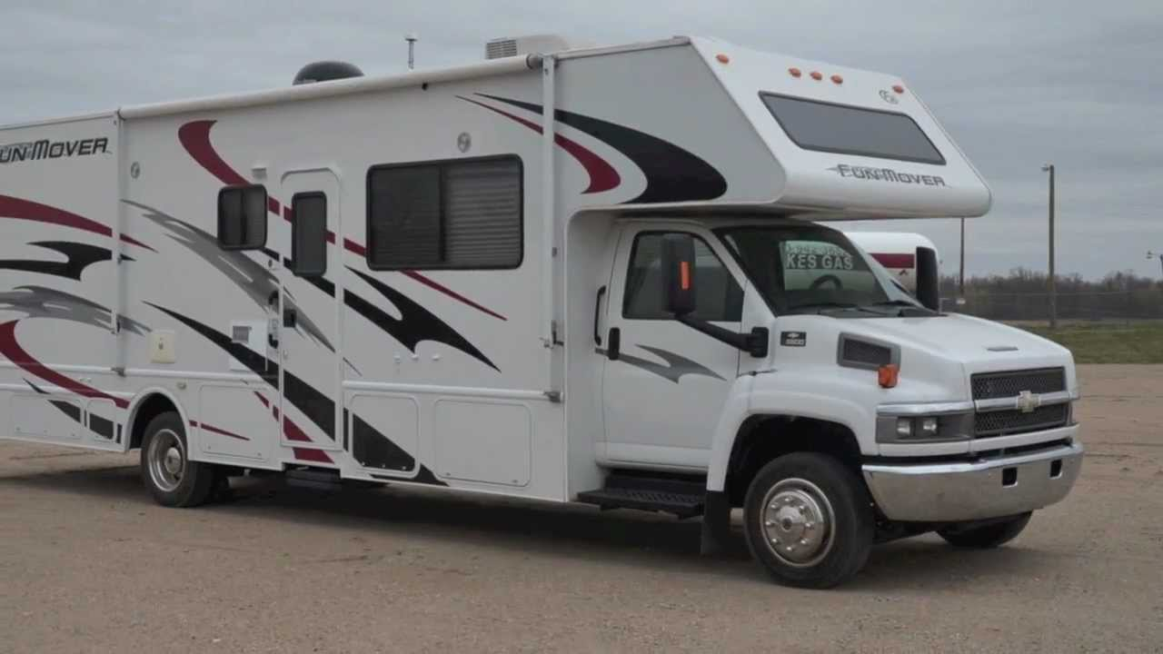 2007 Four Winds Fun Mover 34D Toy Hauler Class C Motorhome