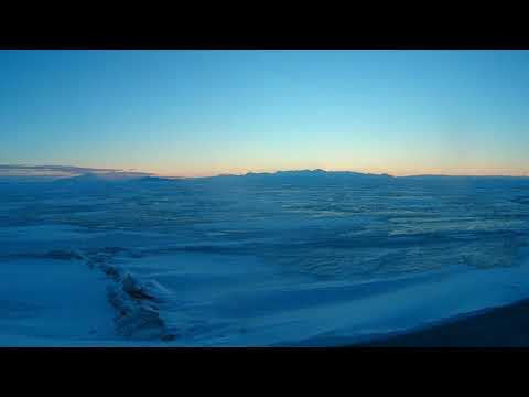 Sunset at McMurdo Station, March 10, 2018