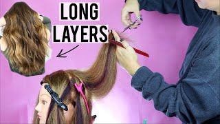 HOW TO CUT LΟNG LAYERS LIKE A PRO | BEGINNER FRIENDLY HAIRCUTTING TUTORIAL