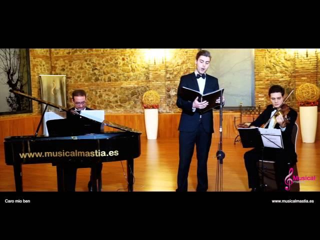 Caro mio ben Bodas Murcia Piano violin tenor