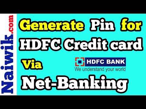 How to generate Pin for HDFC credit card online via Netbanking | Instant Pin Generation