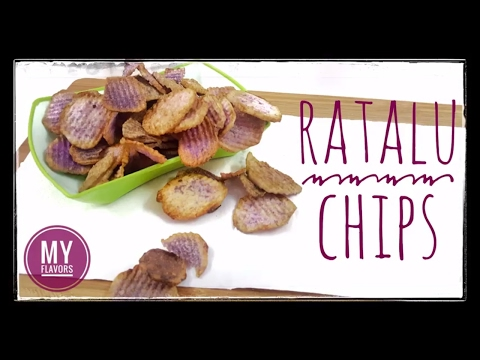 बैंगनी चिप्स रेसिपी PURPLE Chips Recipe/Instant Chips recipe/Crispy Ratalu Chips/Yam chips