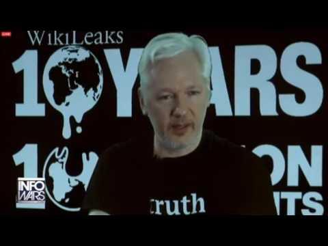 Alex Jones goes crazy on Julian Assange's announcement [Hillary Clinton, WikiLeaks]