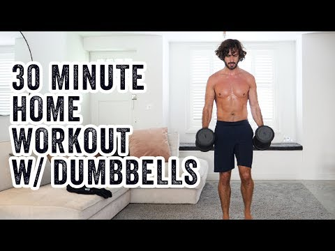 30 Minute HOME WORKOUT with Dumbbells | The Body Coach TV