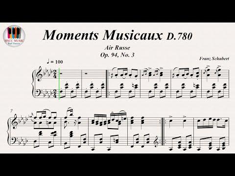 Moments Musicaux D.780 (Air Russe Op. 94, No. 3) - Franz Schubert, Piano