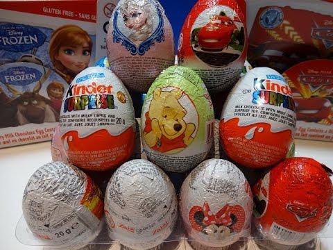 kinder-surprise-eggs-20-disney-frozen-2-spiderman-marvel-la-reine-des-neiges-2-olaf-アナと雪の女王