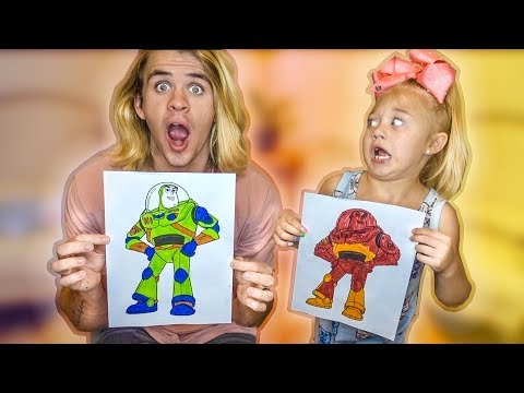 3 MARKER CHALLENGE!!! 5 YEAR OLD VS DAD!