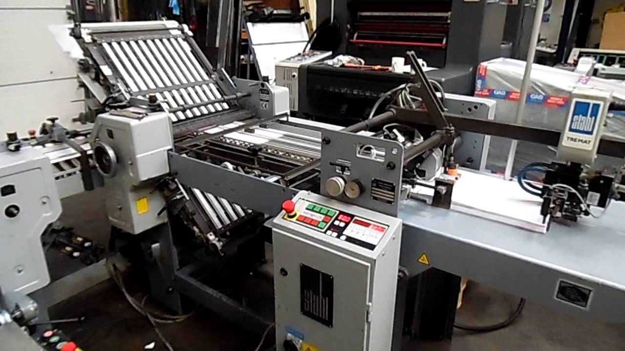 stahl t 52 paper folding machine 1996 youtube rh youtube com