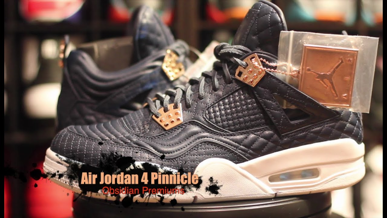 27b35a6cee91 Air Jordan 4 Pinnacle Obsidian Premium Authentic Unboxing Review + On  Foot!!!