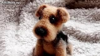 Амигуруми: схема Эрдельтерьер. Игрушки вязаные крючком - Free crochet patterns.