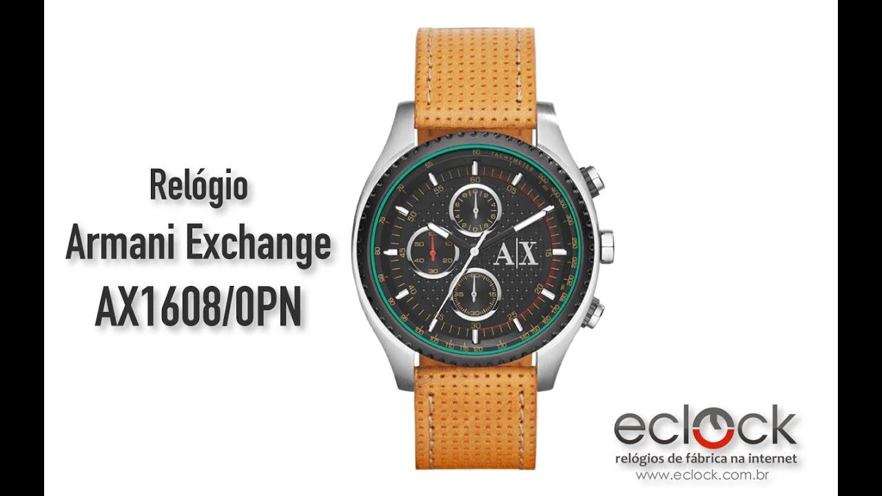c4960d5150512 Relógio Armani Exchange Masculino AX1608 0PN - Eclock - YouTube