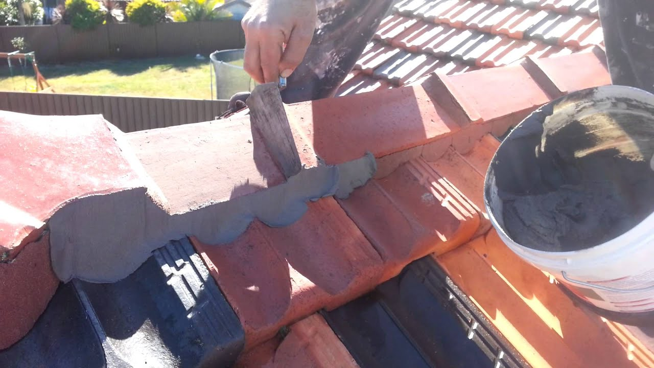 Painting Terracotta Roof Tiles Step 2 Re Pointing   Able Roof Restoration