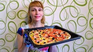 Как приготовить пиццу дома в духовке рецепт Секрета вкусно и быстро(Как сделать вкусную домашнюю пиццу в духовке за 5 минут. Ингредиенты на рецепт пиццы в духовке: Ветчина (можн..., 2016-06-25T10:34:22.000Z)