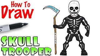 How to Draw Skull Trooper | Fortnite