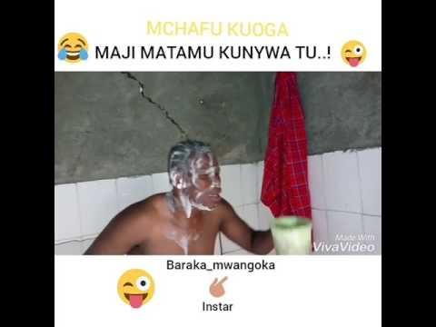 Mwangoka mchafu kuoga