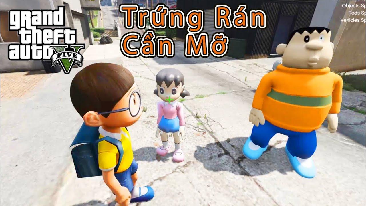 GTA 5 Mod – Xuka Trứng Rán Cần Mỡ Bắp Cần Bơ Tan Nát Nobita