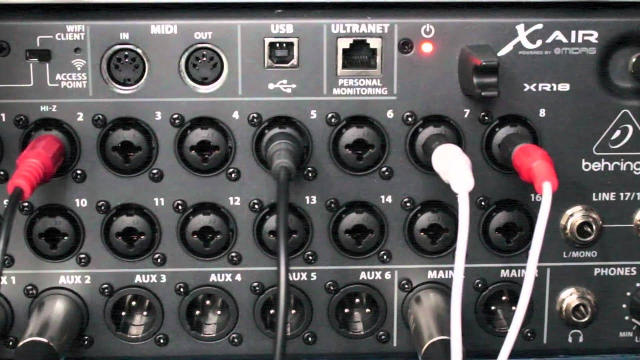 behringer xr18 air mixer 3 minute review youtube. Black Bedroom Furniture Sets. Home Design Ideas