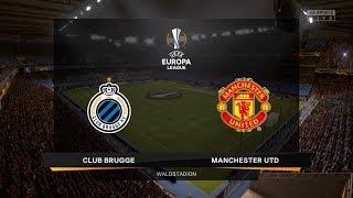 FIFA 20 Career Season 1 UEFA Europa League Round of 32 Club Brugge vs. Manchester United 1st Leg