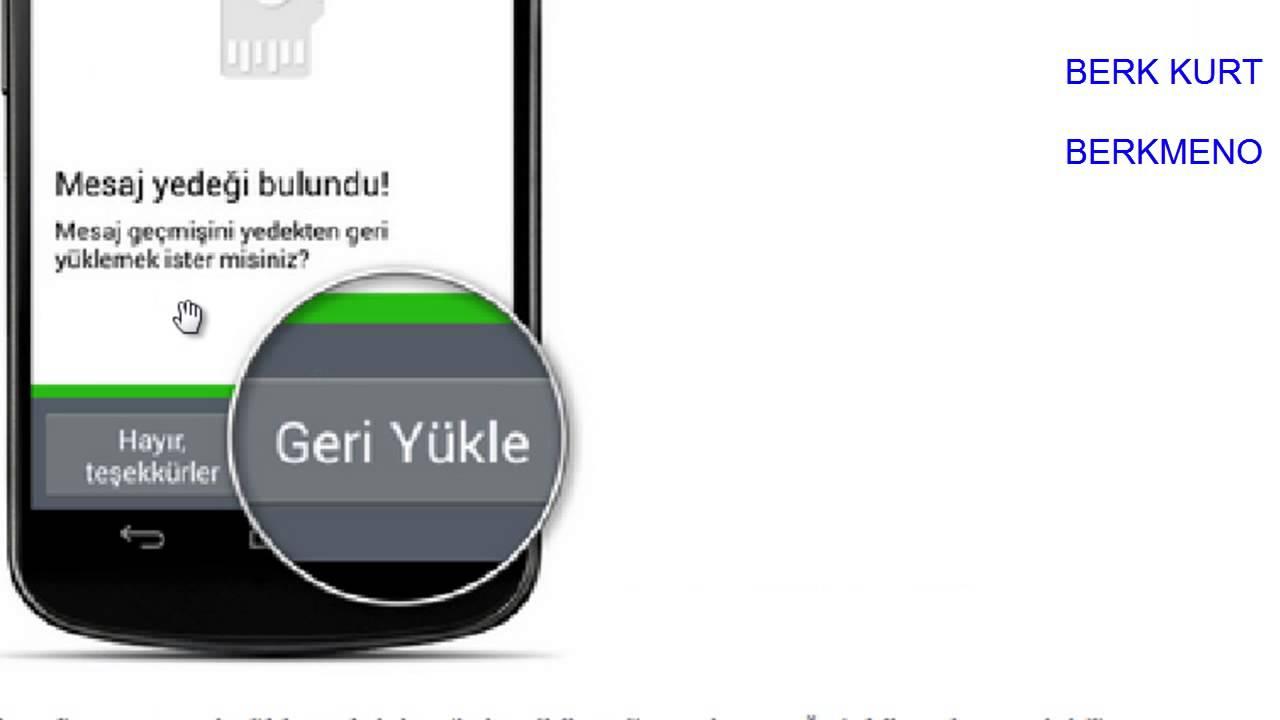 whatsapp silinen mesajları geri yükleme samsung