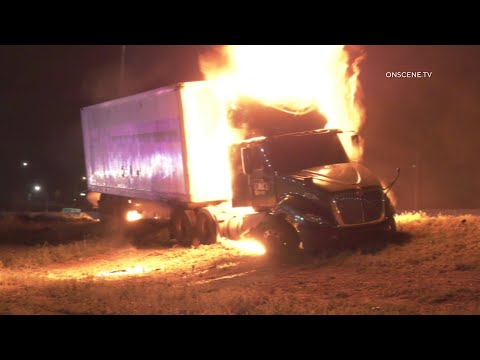 Wrong-Way Fiery Crash Involving Semi | Eastvale