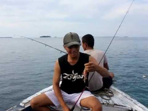 Mancing Di Laut Kepulauan Seribu Jakarta Youtube