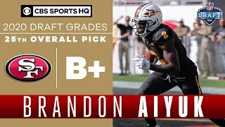 With the 25th pick in 2020 nfl draft, san francisco 49ers select brandon aiyuk, wr from arizona state.our cbs sports hq crew breaks down selectio...