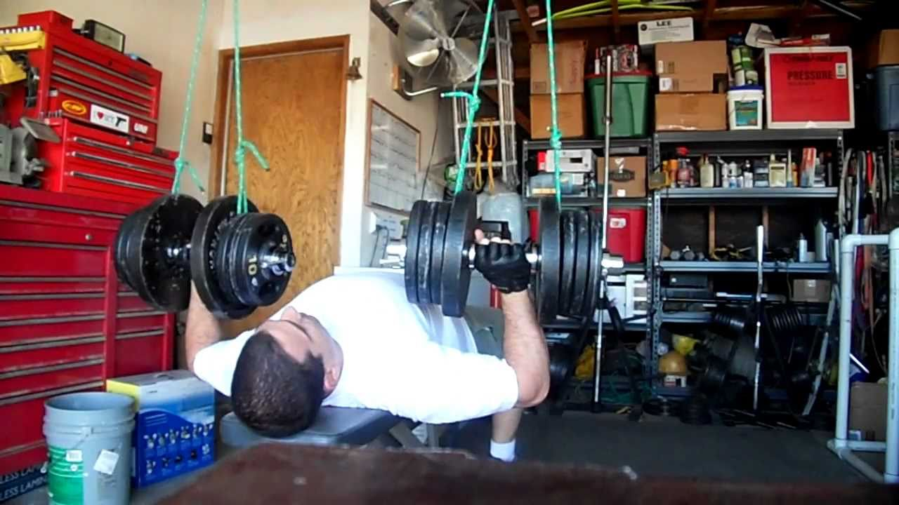 Dumbbell Press Self Spotting Rig 120lbs X10 Youtube