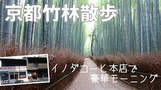[ 京都 嵐山 ] 京都を代表する観光名所 嵐山の『 竹林の小径 』をお散歩♪ ~ 早朝だったので、竹林で出会ったのは 猫1匹だけでした (^^;) ~